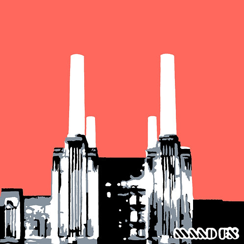 Battersea Power Station - handmade screen prints
