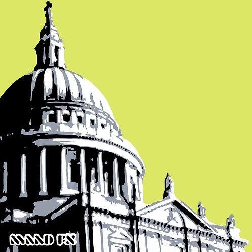 Green - St Paul's London - handmade graffiti screen prints