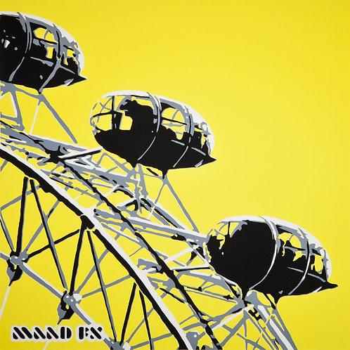 Yellow - London Eye - handmade screen prints