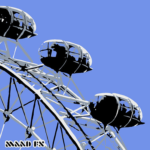 Blue - London Eye - handmade screen prints
