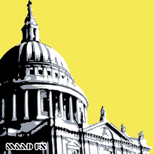 Yellow - St Paul's London - handmade graffiti screen prints