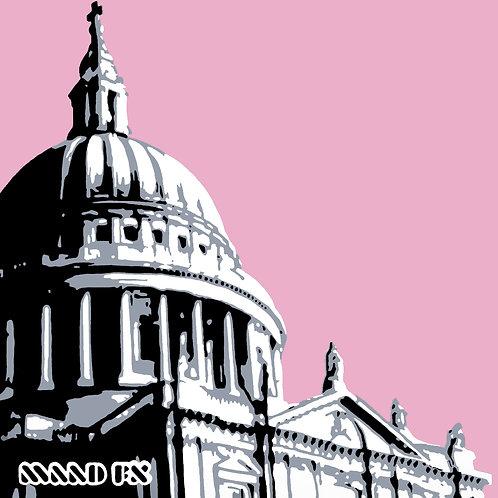 Pink - St Paul's London - handmade graffiti screen prints