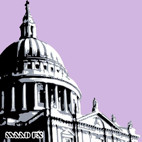 St Paul's London - handmade graffiti screen prints