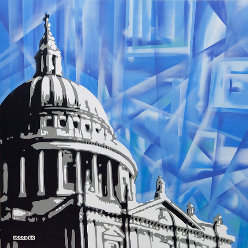 Sky like diamonds St Pauls - Original Painting