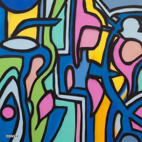 Jazz Night at Club 100 - Original Painting