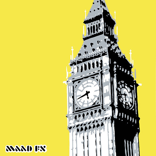 Small - Handmade Screen Prints - Big Ben