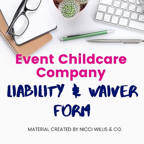 Event Childcare Liability & Waiver Form