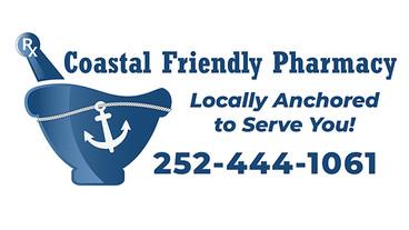 CoastalFriendlyPharmacy Logo and Signage