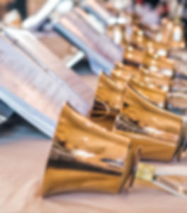 Handbells with sheet of music ready for