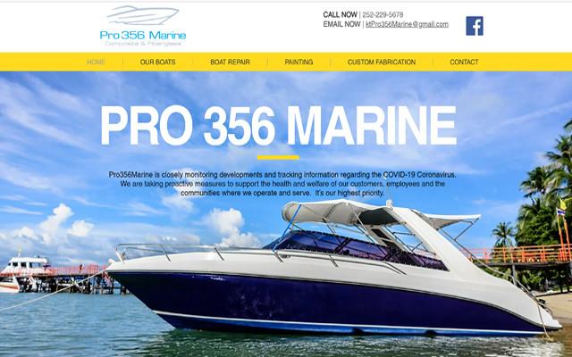 Pro Marine 356 Boatyard Website