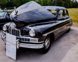 Antique cars on display