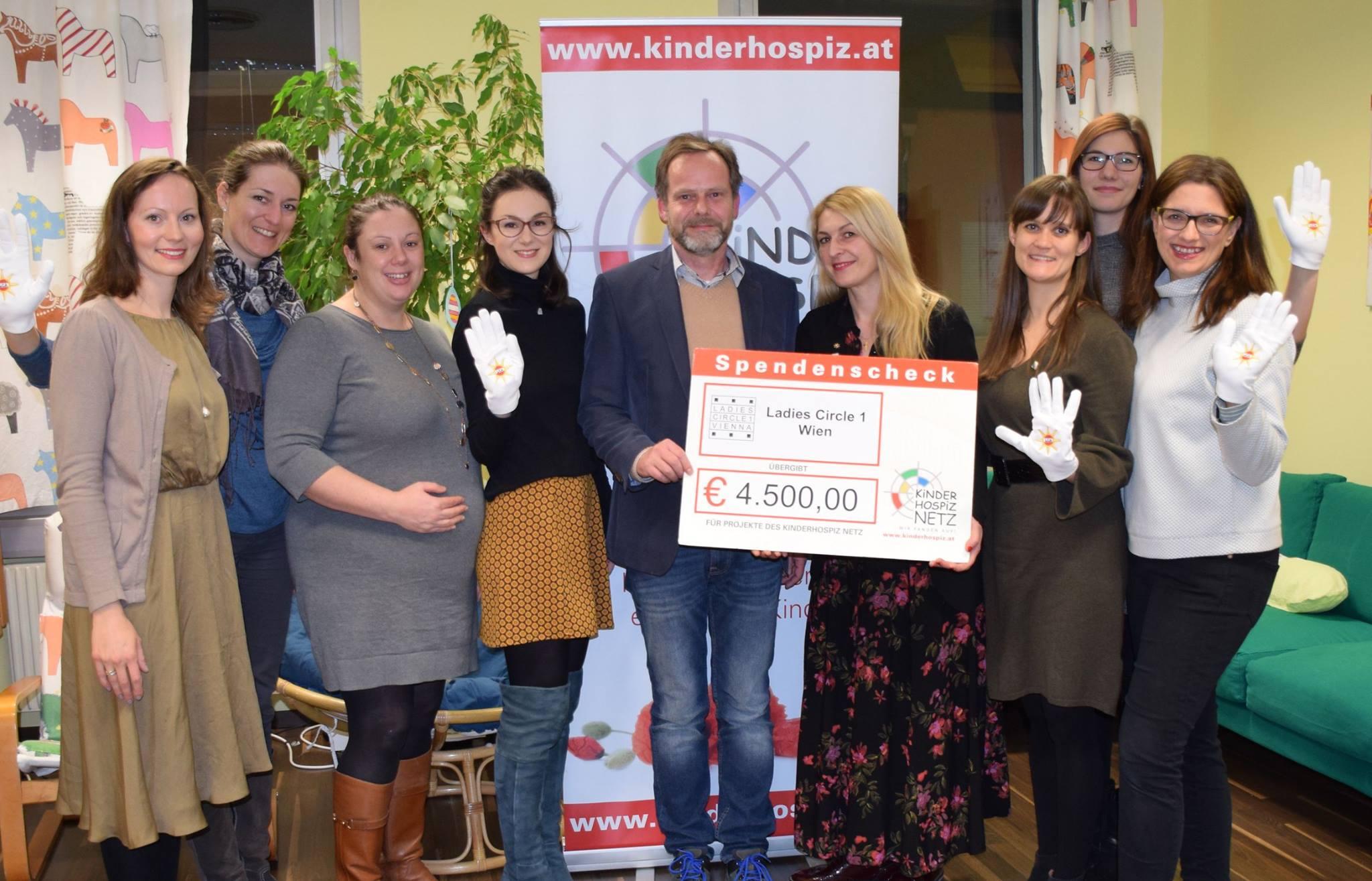 Spendenübergabe Kinderhospiz Netz 2018