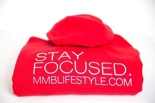 """Red  """"Stay Focused"""" Hoodie"""