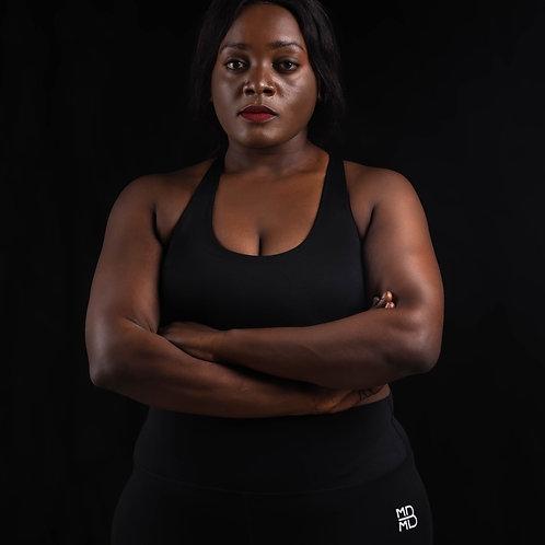 Workout bra strappy back