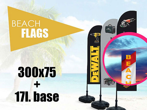 Beach flag 300х75 cm steel