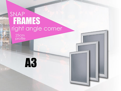 Aluminum snap frame with straight edges A3