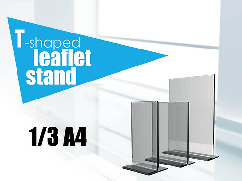 T-shaped leaflet stand 1/3 A4