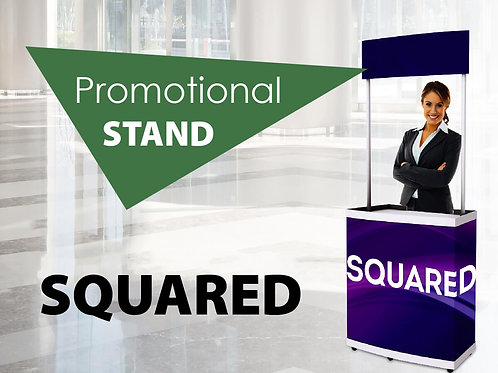 Squared promotional stand