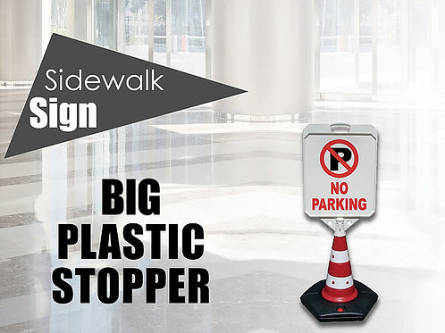 Plastic sidewalk stopper big