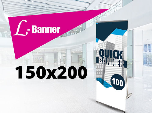 Quick L-banner Strong 150x200 cm