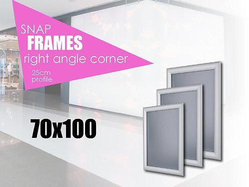 Aluminum snap frame with straight edges 70х100 cm
