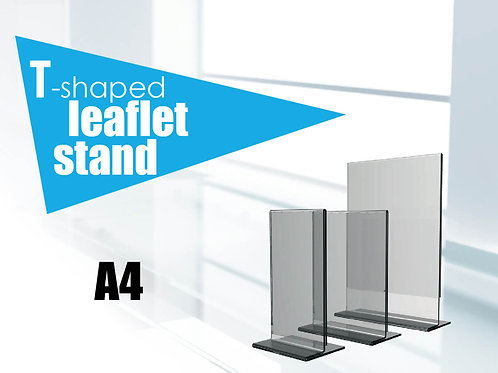 T-shaped leaflet stand A4