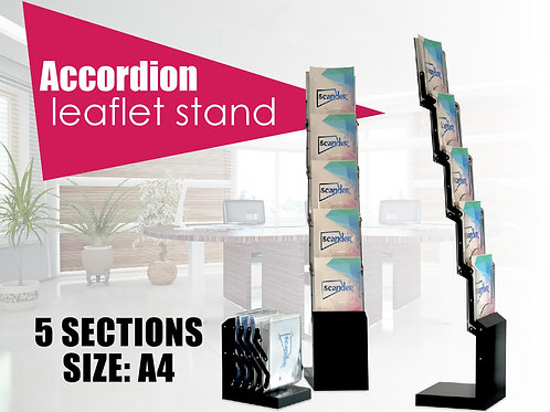 Accordion leaflet stand