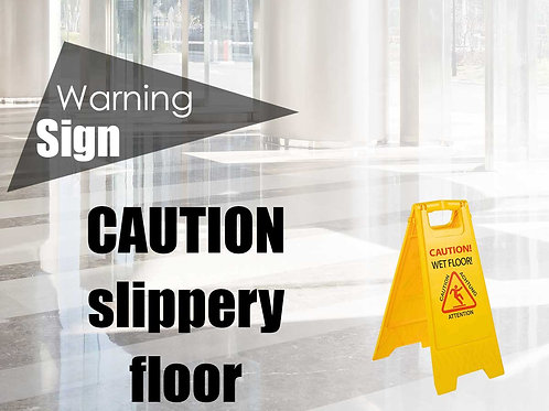 """A-profile warning sign """"CAUTION!"""""""
