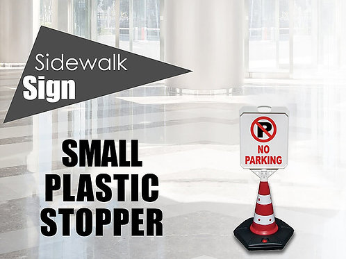 Plastic sidewalk stopper small
