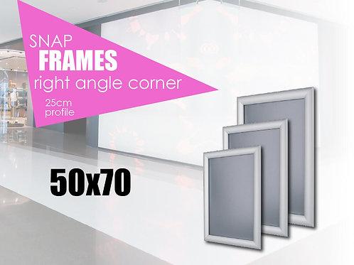 Aluminum snap frame with straight edges 50х70 cm