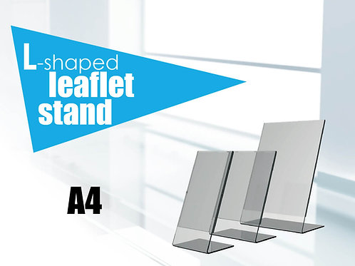 L-shaped leaflet stand A4
