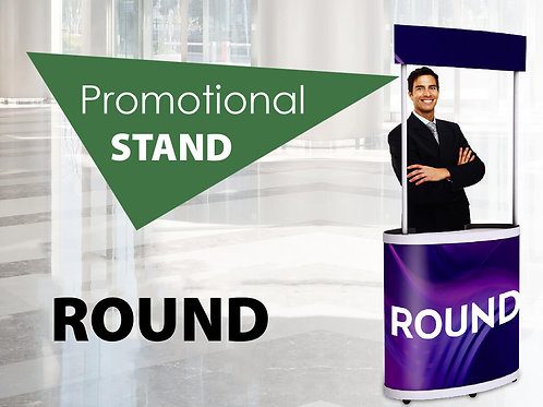 Round promotional stand