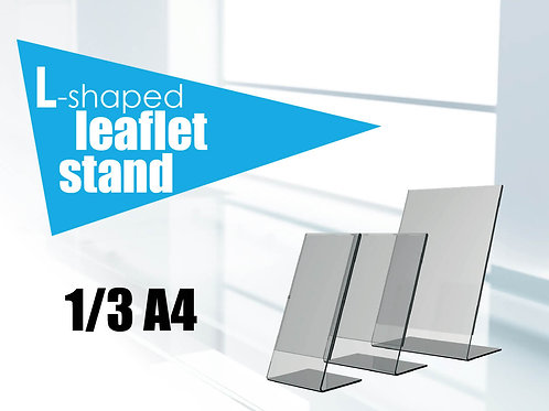 L-shaped leaflet stand 1/3 A4