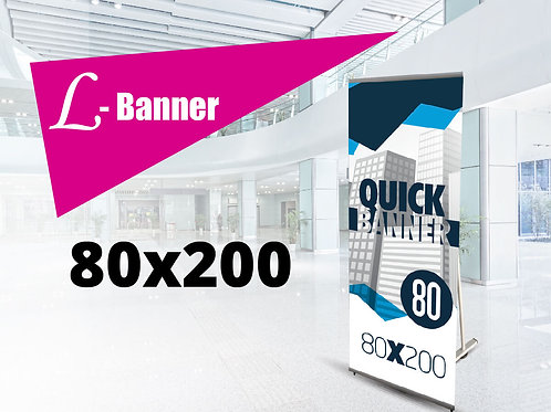 Quick L-banner Strong 80x200 cm