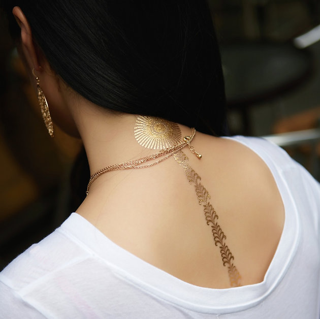 gold, jewelrytattoos, jewelrytats, jewelry, temporary, tattoos, wanderlust, goldtattoos, metallictattoos, silver, party, partykit