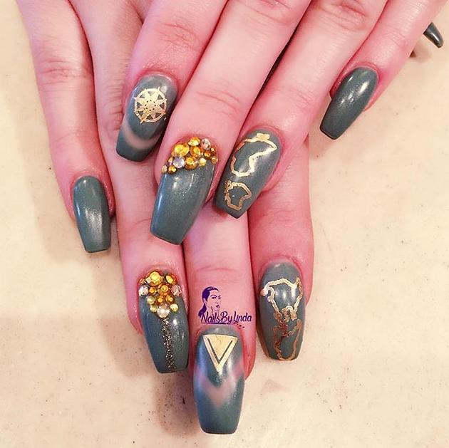 nail decals lustria gold flash tattoo jewelry