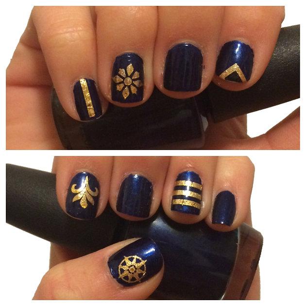 nail decal lustria gold flash tattoo jewelry