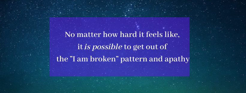Brokenness is not permanent. It is a temporary emotional condition that can be released.