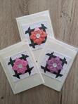 Folded flower cards
