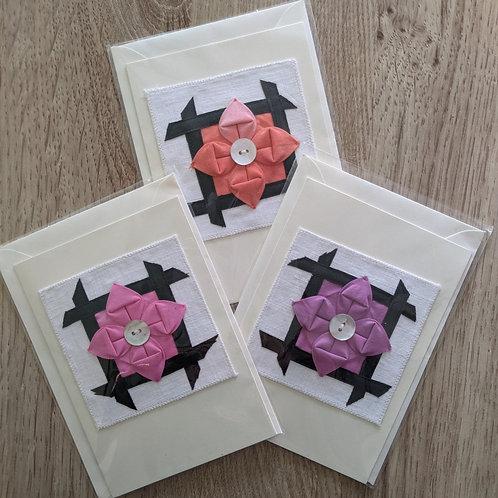 Folded Flower card