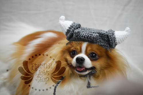 ANY Sizes/Colors Pet Viking Hat Beanie (XS-XL)
