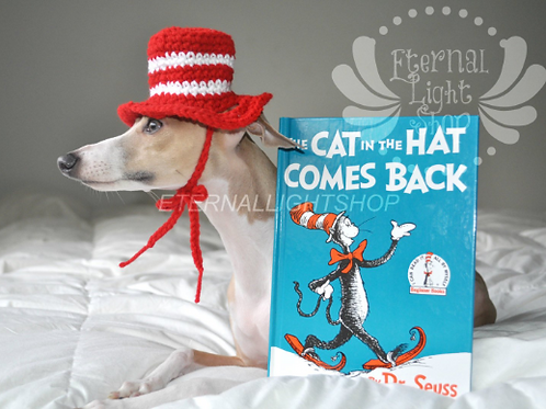 Pet Inspired Cat In the Hat Beanie (XS-XL)