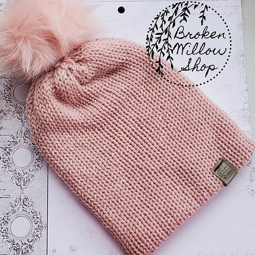 Ready To Ship Teen/Adult Double Knit Beanie Optional Pom Pom
