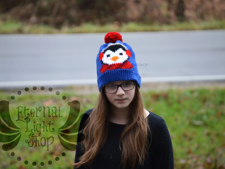 ANY COLORS Penguin Crochet Beanie One Size Teen/Adult