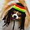 Thumbnail: Pet Rasta Hat Beanie (XS-XL) Any Colors Rastafarian