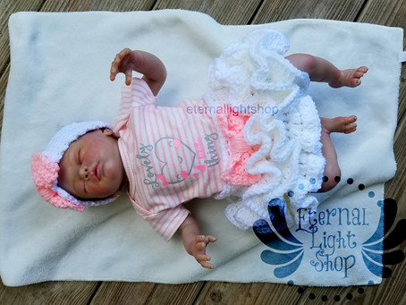 Newborn Crochet Tutu, Onesie & Headband