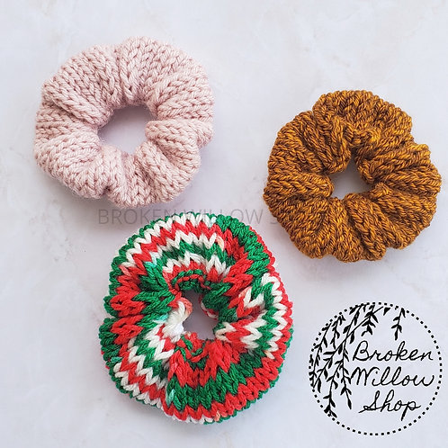 Any Color Knitted Scrunchies