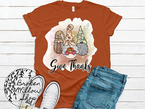 Give Thanks Thanksgiving Bella + Canvas 3001 C and CVC Short-Sleeve Unisex T-Shi