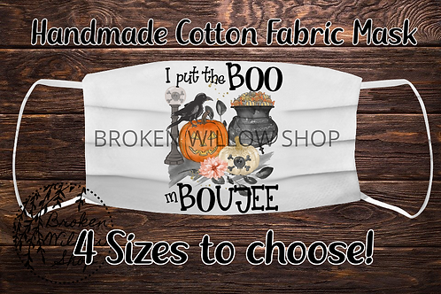 Sublimated BOOjee 100% Cotton Face Mask