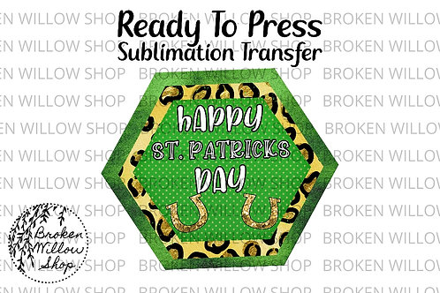 Happy St Patrick's Day Ready to Press Sublimation Transfer, St. Patrick's Day, H